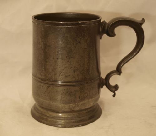 antique english pewter 1 pint tankard circa 1830 by john curruthers crane of bewdley