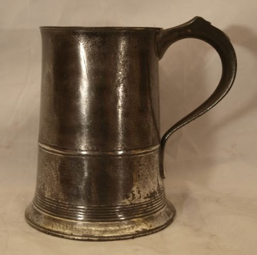 antique english pewter 1 quart tankard circa 1830 by john curruthers crane of bewdley