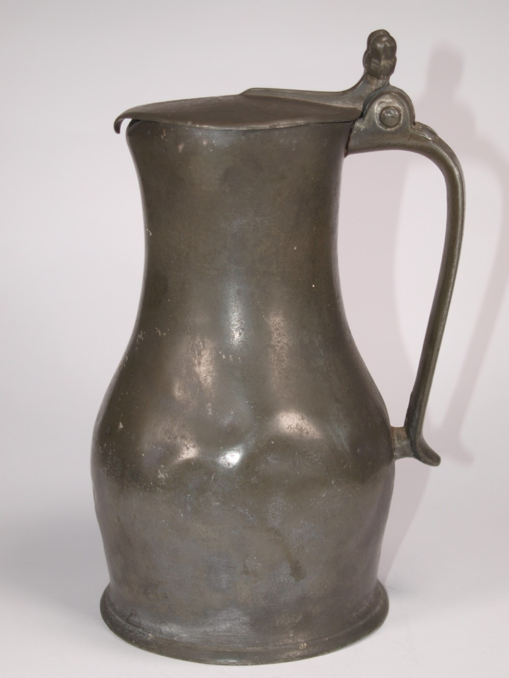 antiqur jersey pewter 1 quart measure by john de st croix